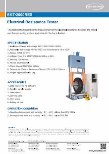 EKT-2000RES Electrical Resistance Tester