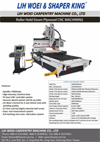 Roller hold down CNC machine center